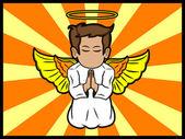 Little Angel Praying — Stock Vector