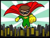 Little Superhero Flying — Stock Vector