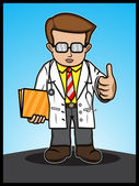 The Doctor Show Thumbs Up — Stock Vector