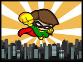 City Defender Flying — Stock Vector