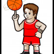 Stok Vektör: Basketball Player
