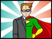Alter Ego Super Hero — Stock Vector