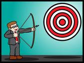 Target In Business — Stock Vector