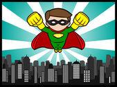 Little Hero Flying — Stock Vector