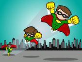 Superhero Take Off — Stock Vector