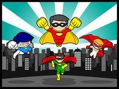 Team Superhero — Stock Vector