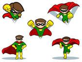 Superhero Set — Stock Vector
