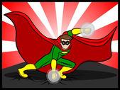 Superhero Preparing to Attack — Stock Vector