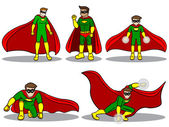 Set of Superhero — Stock Vector