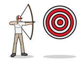 Aim a target — Stock Vector