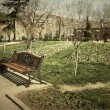 Lonely bench — Stockfoto