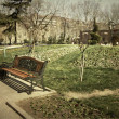 Lonely bench — Stock fotografie