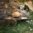 Stock Photo: Old bullock cart