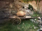 старый тележке буллок — Стоковое фото
