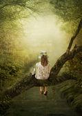 Lesnicze sielanka — Zdjęcie stockowe