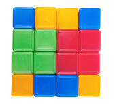 Plastic blocks — Stock Photo