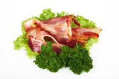 Fried bacon — Stock Photo