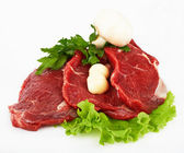 The piece of raw fillet steak — Stock Photo