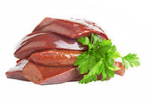 Fresh liver — Stock Photo