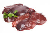 Fresh and raw liver — Stock Photo