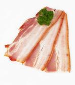 Sliced pork bacon — Stock Photo
