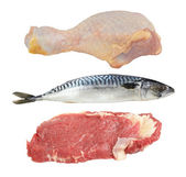 Meat and fish — Stock Photo