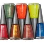 Bottles of nail polish — Stock Photo