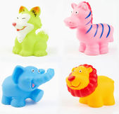 Plastic bath toys — Stock Photo