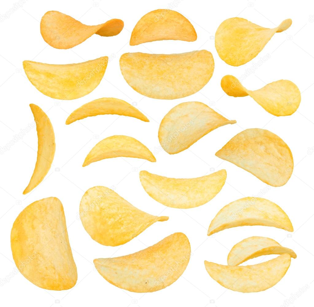 Potato Chips Images Potato Chips Close up Isolated