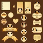 Tags and labels with dogs — Stock Photo