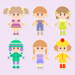 Cartoon drawings of children — Stock Photo #18998377