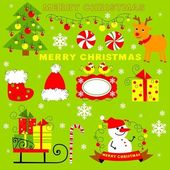 Christmas clip art — Stock Photo