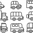 Transportation icon set — Stock Photo