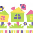 Nesting box - vector illustration - Stock Photo