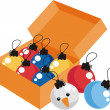 Christmas balls — Stock Photo #21620491