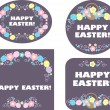 Easter labels and tag — Stock Photo