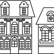 Vector houses icons set - Stock Photo