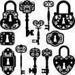 Old keys and locks - Stock Photo