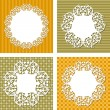 Vector backgrounds with napkins - Stock Photo