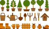 Set of garden icons — Stock Photo