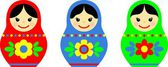 Matryoshka, russian souvenir — Stock Photo