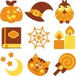 Halloween set, vector illustration — Stock Photo