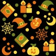 Halloween background, vector illustration — Foto de Stock