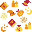 Halloween background, vector illustration - Stock Photo