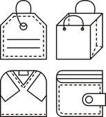 Zestaw ikon dla sklepu z odzieżą — Zdjęcie stockowe