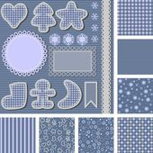 Set of backgrounds and images for scrapbooking — Stock Photo