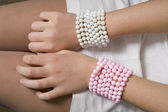 Bangles made of beads — Stock Photo