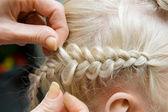 French braid — Stock Photo