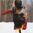 Stock Photo: Burning symbol of winter