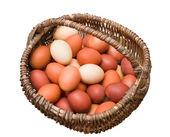 在篮子里的复活节彩蛋 — 图库照片